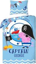 Peppa Pig Captain George Dekbedovertrek - 140x200 cm - Blue