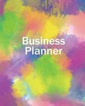 Business Planner 8 X 10 - Planner, Organizer and Record-Keeper - Bright Abstra