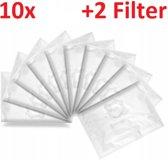 10x Premium Stofzuigerzakken Voor Rowenta/Moulinex Stofzuiger - Wonderbag Microvezel Stofzuiger Zakken - Met 2 Stuks Filter