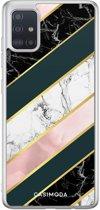 Samsung Galaxy A51 siliconen hoesje - Marble stripes