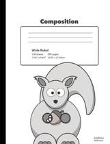Cute Squirrel Composition Book Wide Rule