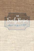 Blank Family Recipe Book