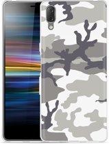 Sony Xperia L3 Hoesje Army Camouflage Grey