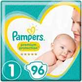 Pampers Premium Protection Luiers - Maat 1 -  2 tot 5kg - 96 Stuks