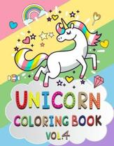 Unicorn Coloring Book Vol.4