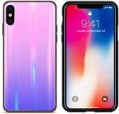 BackCover Aurora Glass voor Apple iPhone X/XS Roze