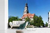 Fotobehang vinyl - De kerk van de Duitse stad Leipzig breedte 390 cm x hoogte 260 cm - Foto print op behang (in 7 formaten beschikbaar)