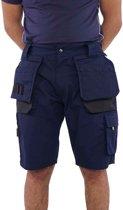 Storvik Job - Korte werkbroek - Heren - Maat XL - Zwart / Donkerblauw