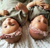 Baby haarbandje met knoop velvet pink   Roze   Baby