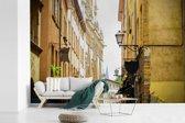 Fotobehang vinyl - Franse architectuur in de straten van Lyon breedte 600 cm x hoogte 400 cm - Foto print op behang (in 7 formaten beschikbaar)