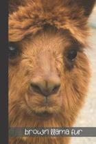 Brown LLAMA fur: small lined Cobra Snake Notebook / Travel Journal to write in (6'' x 9'') 120 pages