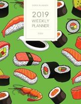2019 Weekly Planner Sushi