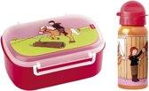 Lunchset voor kinderen - Broodtrommel en Drinkfles - paarden - Sigikid