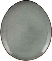 Mica Decorations tabo bord ovaal grijs maat in cm: 28,5 x 23,5
