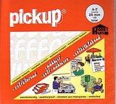 Pickup plakletters boekje Vivace 25mm letters wit