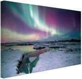 FotoCadeau.nl - Verschillende kleuren noorderlicht Canvas 30x20 cm - Foto print op Canvas schilderij (Wanddecoratie)
