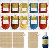 Wax ontharen - 1kg wax - MEALISS® vulling - 70 stokjes - 250ml olie