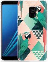 Samsung Galaxy A8 Plus 2018 Hoesje Exotic Trendy Parrots