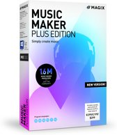 MAGIX Music Maker Plus Edition 2019 - Nederlands / Frans / Engels - Windows Download