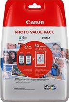 Canon PG-545XL/CL-546XL - Inktcartridge / Zwart / Kleur / Hoge Capaciteit / 50 Vellen Fotopapier