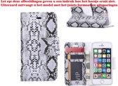 Xssive Hoesje voor Samsung Galaxy Trend Lite S7390 - Book Case Slangen Print Zwart Wit