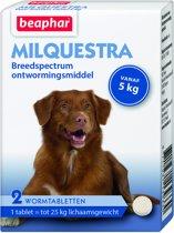 Beaphar Milquestra voor honden vanaf 5 kg (2 tabletten)