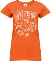 "Yoga-T-Shirt ""paisley"" - orange L Sporttop performance YOGISTAR"
