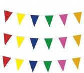 3x vlaggenlijnen gekleurde vlaggetjes - 10 meter - slingers