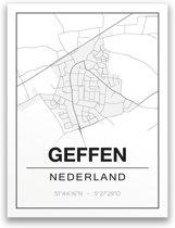 Poster/plattegrond GEFFEN - 30x40cm