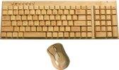 Houten Toetsenbord & Muis Combo Bamboe Draadloos Bluetooth