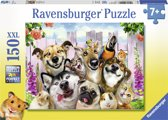 Ravensburger puzzel Grappige dierselfie - legpuzzel - 150 stukjes
