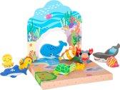 Houten speelwereld - Onderwater - Houten speelgoed vanaf 1,5 jaar