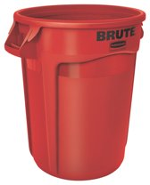 Rubbermaid Brute Container - Rond - Ø 55.9 Cm - 121.1 l - Rood