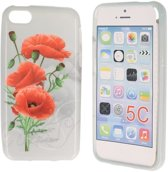 iPhone 5C Special Silicon Case Hoesje - Mystic Flowers