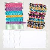 Maak ontwerp je eigen weefkaarten - knutselspullen voor kinderen en volwassen voor het maken decoraties (30 stuks)