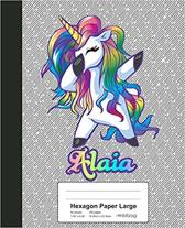 Hexagon Paper Large: ALAIA Unicorn Rainbow Notebook