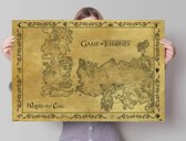 REINDERS Game of Thrones - antique map - Poster - 91,5x61cm