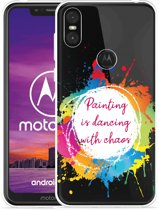Motorola One Hoesje Painting