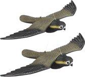 relaxdays 2 x vogelverschrikker vliegende valk - tuindecoratie - vogelwering – verjagen