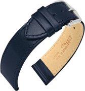 Hirsch Horlogeband -  Osiris Donkerblauw - Leer - 18mm