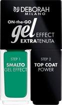 Deborah Milano Duo On-The-Go Gel Effect Nail Enamel 14 Intense Green
