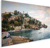 Turkse rotsen in de haven van Antalya in Europa Plexiglas 60x40 cm - Foto print op Glas (Plexiglas wanddecoratie)