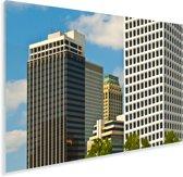 Hoge gebouwen van de Noord-Amerikaanse stad Tulsa in Oklahoma Plexiglas 120x80 cm - Foto print op Glas (Plexiglas wanddecoratie)