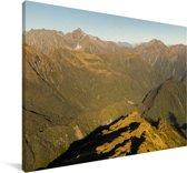 Uitzicht over het Nationaal park Westland Tai Poutini in Oceanië Canvas 140x90 cm - Foto print op Canvas schilderij (Wanddecoratie woonkamer / slaapkamer)