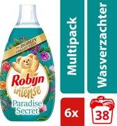 Robijn Intense Paradise Secret wasverzachter - 228 wasbeurten  - 6 x 570 ml - Voordeelverpakking