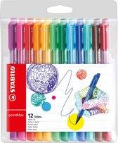 STABILO pointMax Fineliner - Etui 12 Kleuren