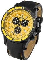 Vostok Europe 6S30-5104185 horloge heren - zwart - edelstaal PVD zwart