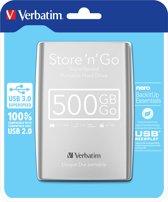 Verbatim Store 'n' Go Super Speed - Externe harde schijf - 500GB - Zilver