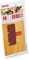 Kreator KRT201505 Schuurpapier - Korrel: K80 - Rechthoekig: 93 x 187 mm - 5 stuks