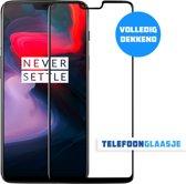 OnePlus 6 Glazen Screenprotector (VOLLEDIG DEKKEND) (ZWART)   Tempered glass   Gehard glas